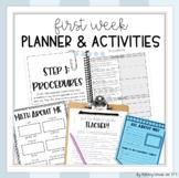 First Week of School Activities Teacher Planner Bundle