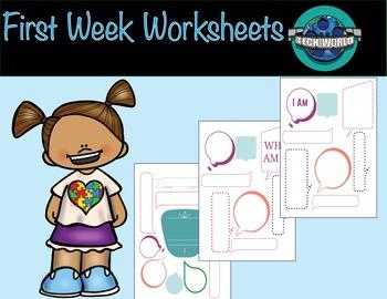 First Week Worksheets