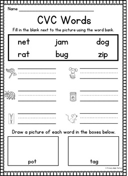 First Week in 1st Grade- NO PREP Reading, Writing, and Math Activities
