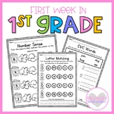 First Week in 1st Grade Beginning of the Year Literacy and