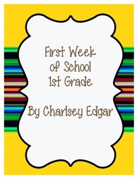 First Week of 1st Grade