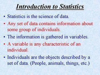 First Week of AP Stat (Powerpoint)