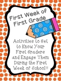 First Week of First Grade Activities (To Get to Know Them