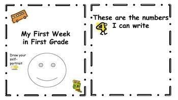 First Week of First Grade Book