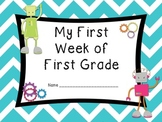 First Week of First Grade Book (Beginning of Year Book) Robot Style