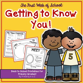 First Week of Second Grade {Getting to Know You}
