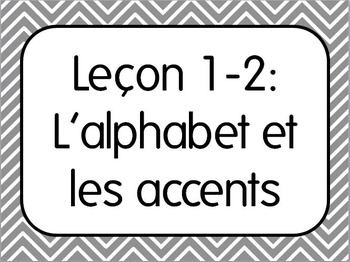 First Week of French I Lesson 2: Alphabet/L'alphabet et le