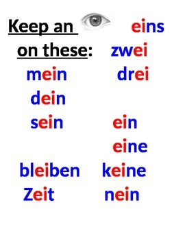 "First Week of German 1: Pronunciation of ""ei"" and ""ie"""
