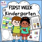 First Week of Kindergarten/Starting School: Activities