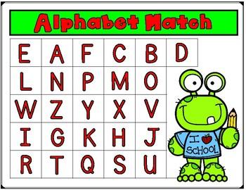 Kindergarten Alphabet Centers:  Letter Recognition File Folder