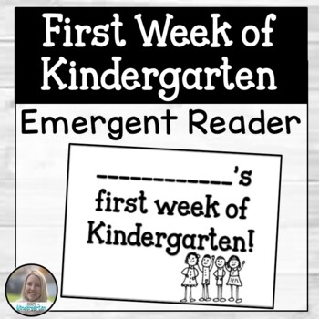 First Week of Kindergarten Booklet