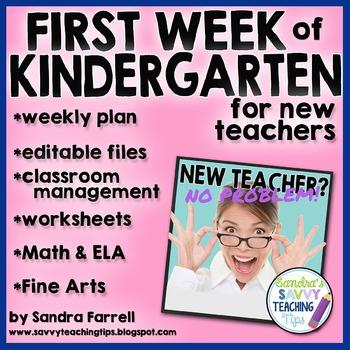First Week of Kindergarten - Complete Plans