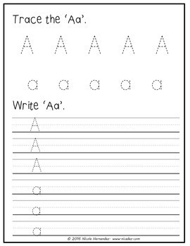 First Week of School - Kindergarten Letter Review 'a' to 'e'