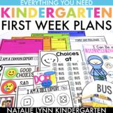 First Week of Kindergarten Lesson Plans + Printables   Bac