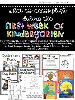First Week of Kindergarten Survival Guide - Back to School Activities