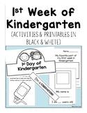First Week of Kindergarten Activities & Printables *Year Updated*