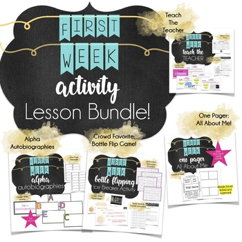 First Week of Middle School Building Relationships Bundle of Lesson Plans