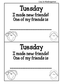 First Week of Pre-School Booklet