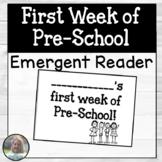 First Week of Pre-School Booklet