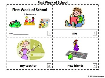 First Week of School 2 Emergent Reader Booklets - ENGLISH