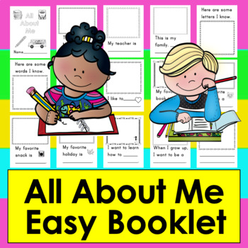 All About Me Booklet for the First Week of School - Kindergarten and First Grade