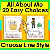 All About Me Booklet First Week of School Kindergarten & First Grade
