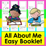 All About Me Booklet First Week of School Kindergarten & F