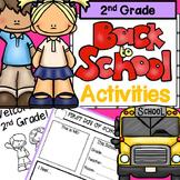 First Week of School 2nd Grade: No Prep ELA and Math Activities