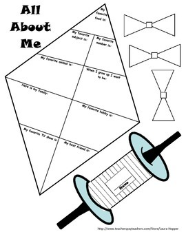 """All About Me"" Kite and Partner Activities"