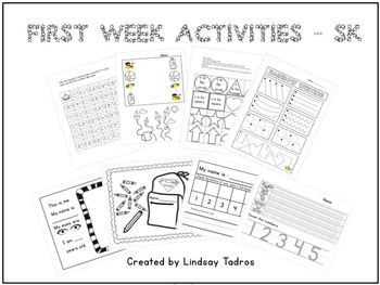 First/Last Week of School Activities