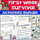 First Week of School Activities Bundle {No Stress! First W