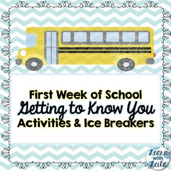 Back to School - First Week of School Activities