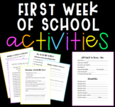 First Week of School Activities