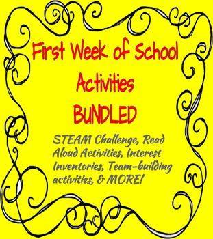 First Week of School Activities BUNDLED