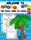 First Week of School Activities:  First Grade
