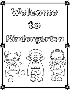 First Week of School Activities: Kindergarten