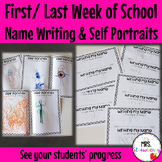 First Week of School Activities: Name Writing and Self Portraits