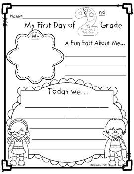 First Week of School Activities:  Second Grade