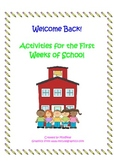 First Week of School Activities Third Grade