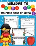 First Week of School Activities:  Third Grade