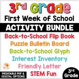 First Week of School Activities 3rd Grade | Back to School Activities
