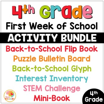 First Week of School Activities for 4th Grade