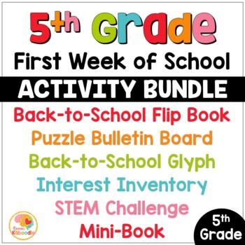 First Week of School Activities for 5th Grade