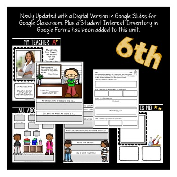First Week of School Activities for 6th Grade Google Slides | Distance Learning