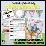 First Week of School Activities for Civics