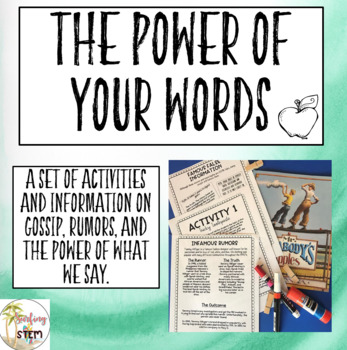 First Week of School Activities on the Power of our Words