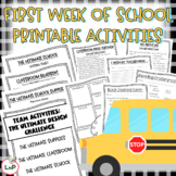 First Week of School Activities with Printable Worksheets