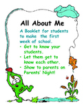 First Week of School Activity - All About Me Booklet