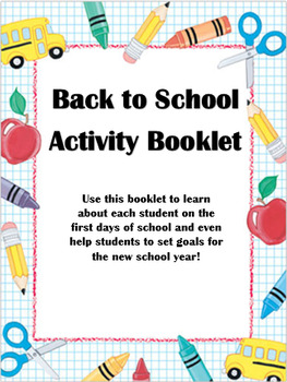 First Week of School Activity Booklet