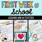First Week of School and First Day of School Activities Di